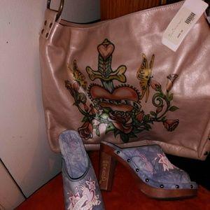 "Handbags - Beautiful ""LEATHER"" PURSE & CLOGS"